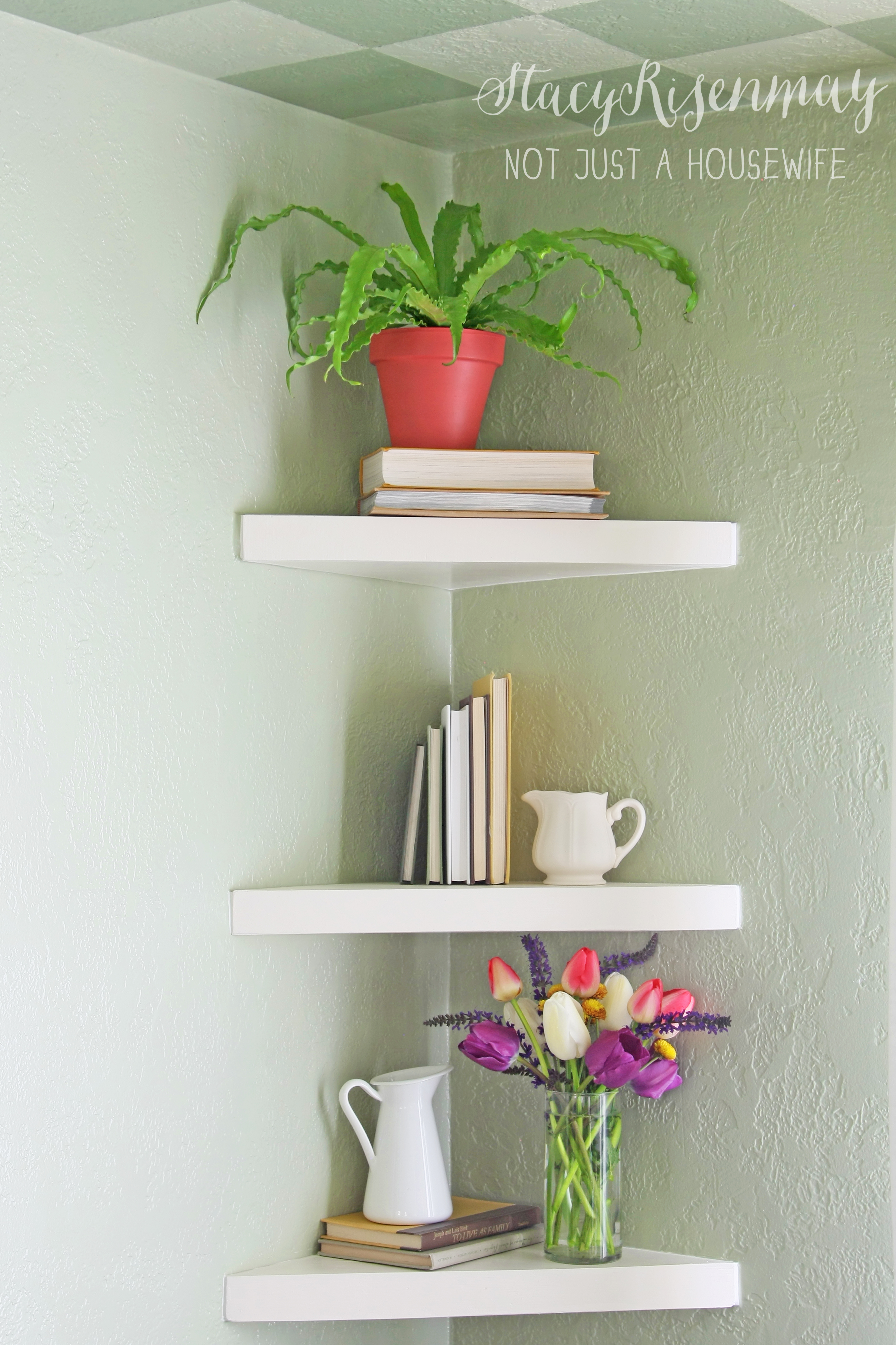Floating Corner Shelves Not Just A Housewife