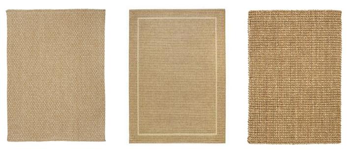 natural flat weave rug