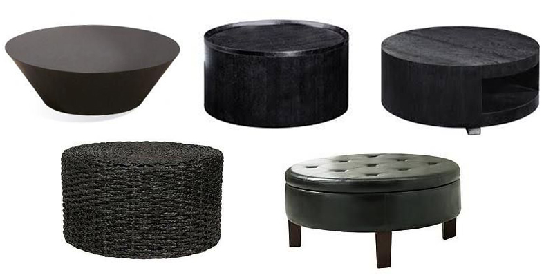 round black coffee table. Contemporary Black Round Black Coffee Tables Intended Round Black Coffee Table