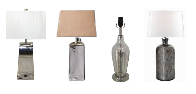 silver table lamps