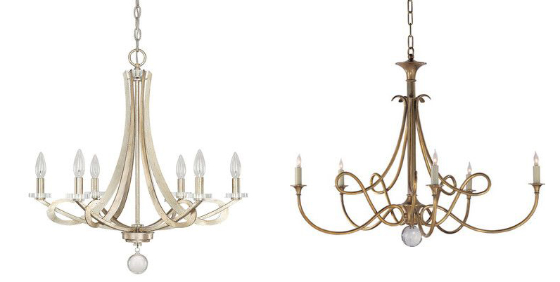 simple gold chandeliers