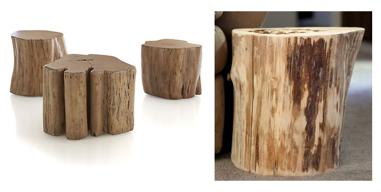 tree stump side table More Or Less {American Dream Builders} Finale!