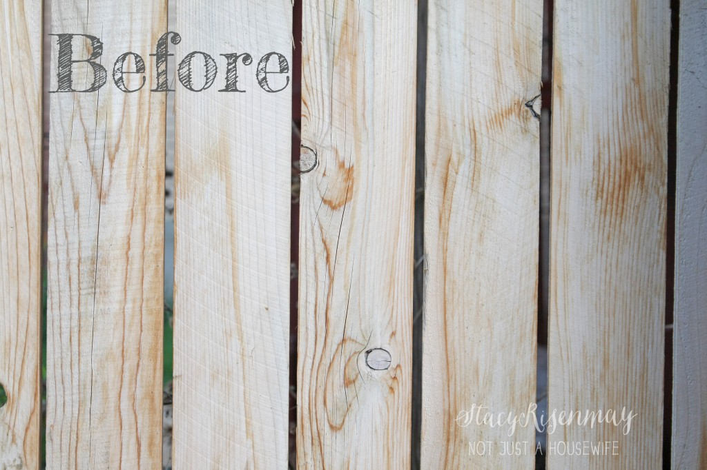 fence before stain