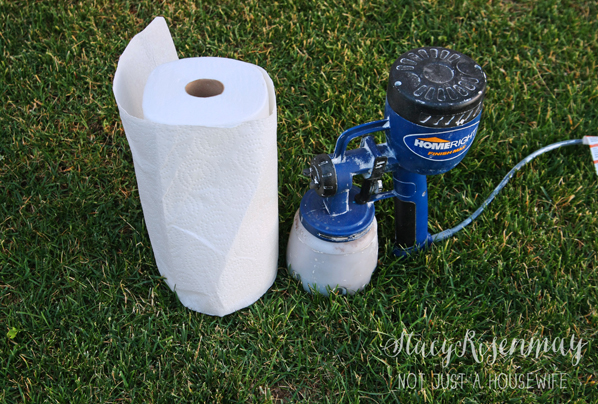 have paper towels on hand when staining