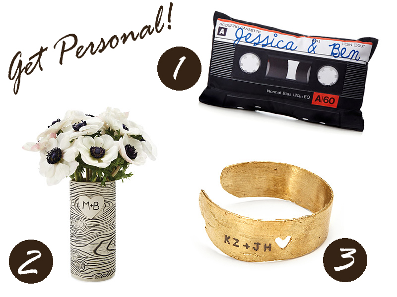 personalize items
