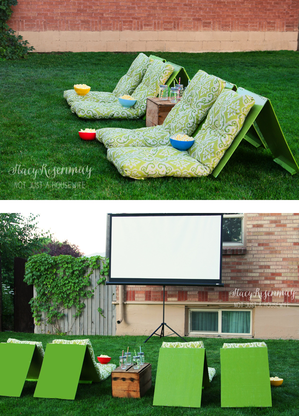 Backyard Theater Ideas outdoor movie theater seats - stacy risenmay