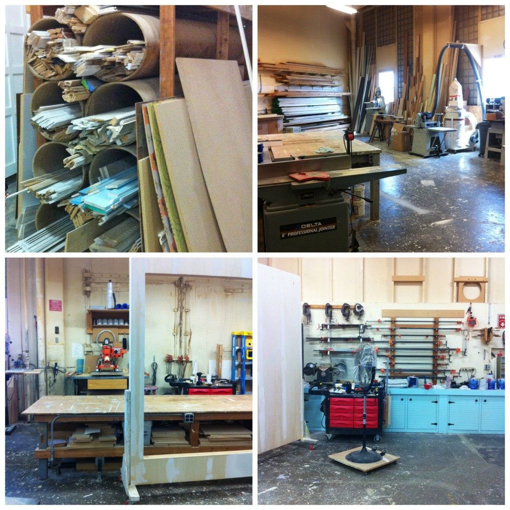wood working shop at BHG