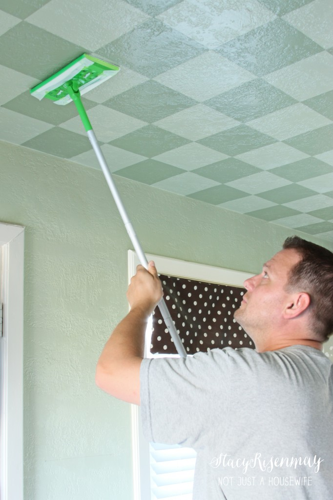 cleaning ceiling