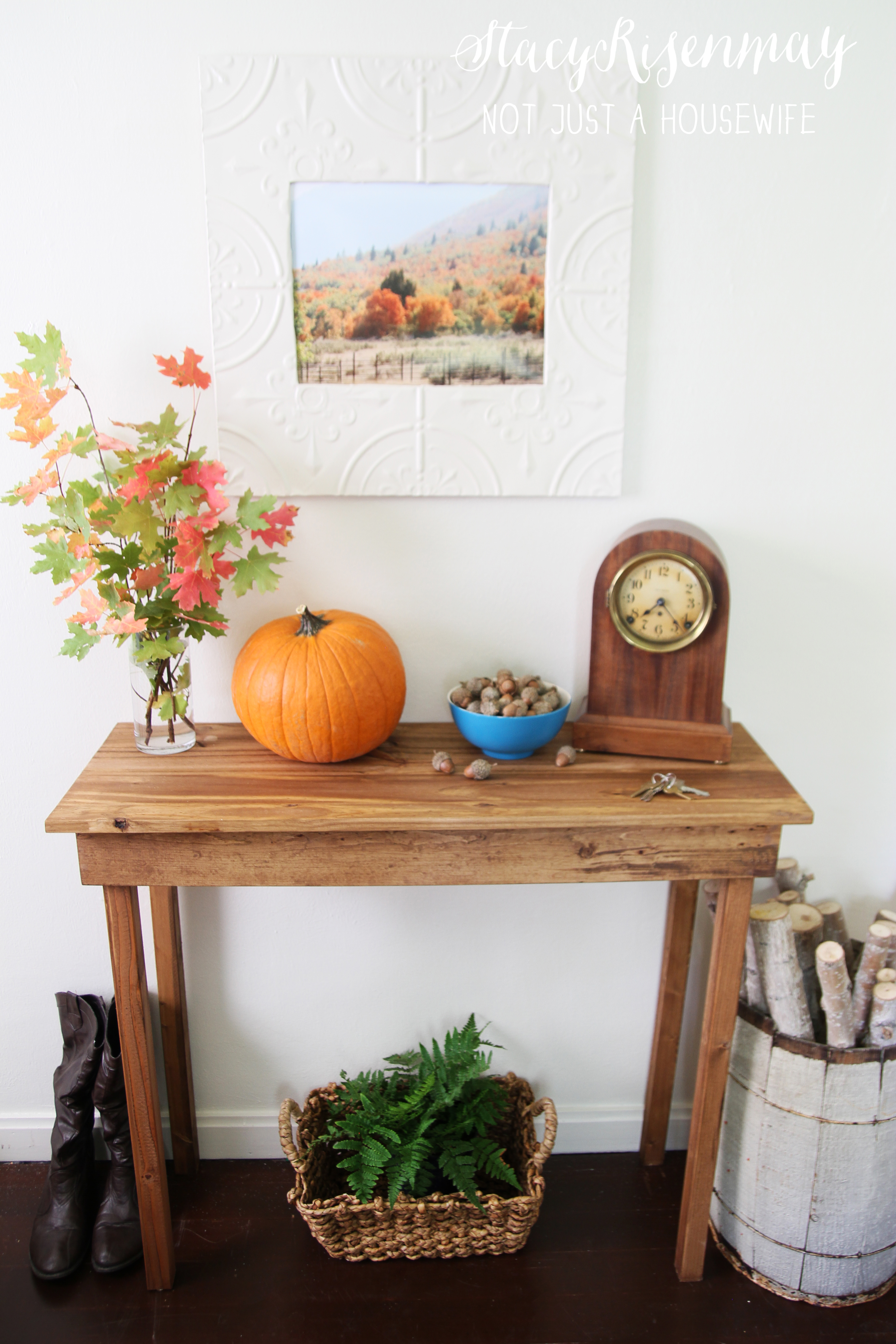 Easy Diy Foyer Table : How to build a simple entryway table not just housewife