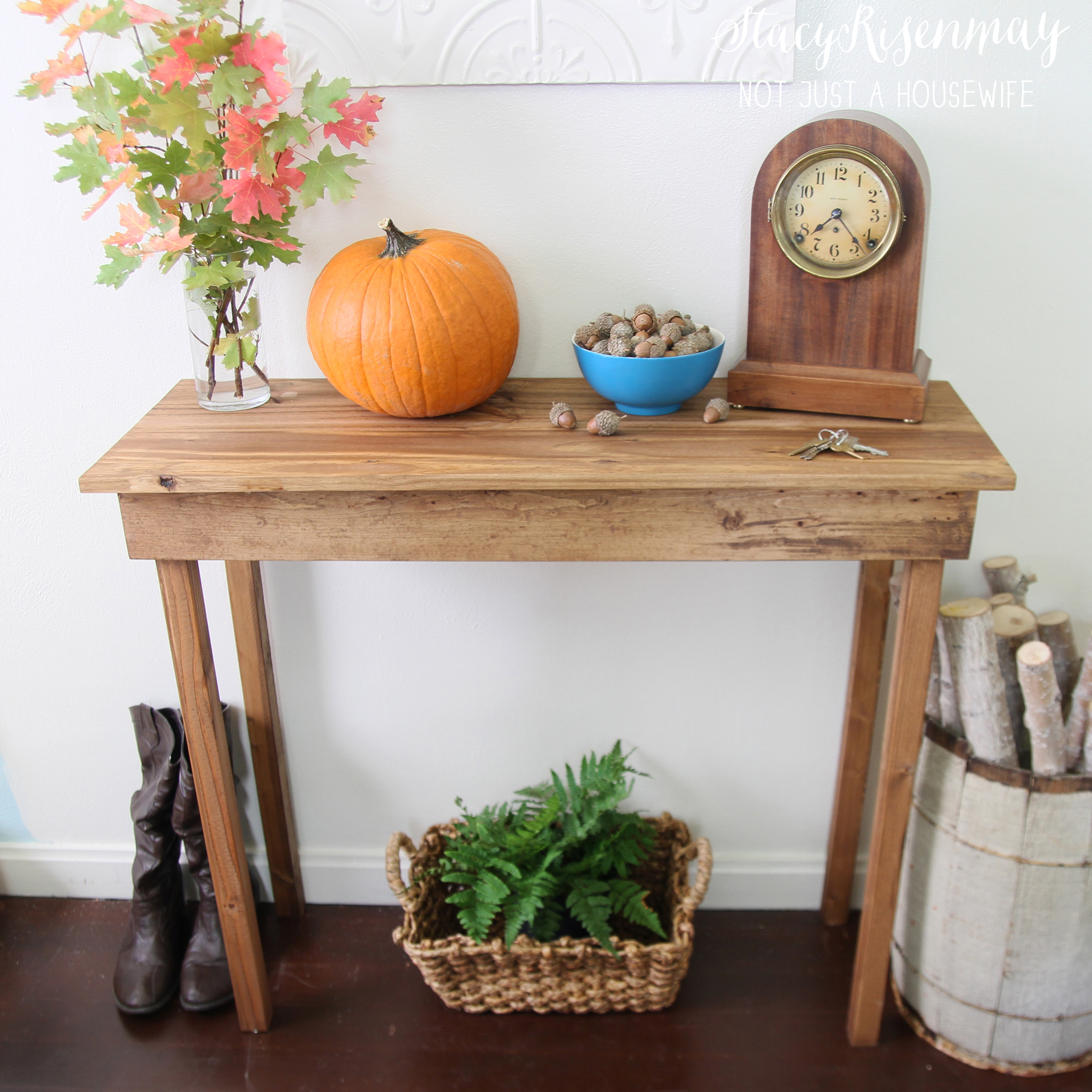 Simple Foyer Table : How to build a simple entryway table not just housewife