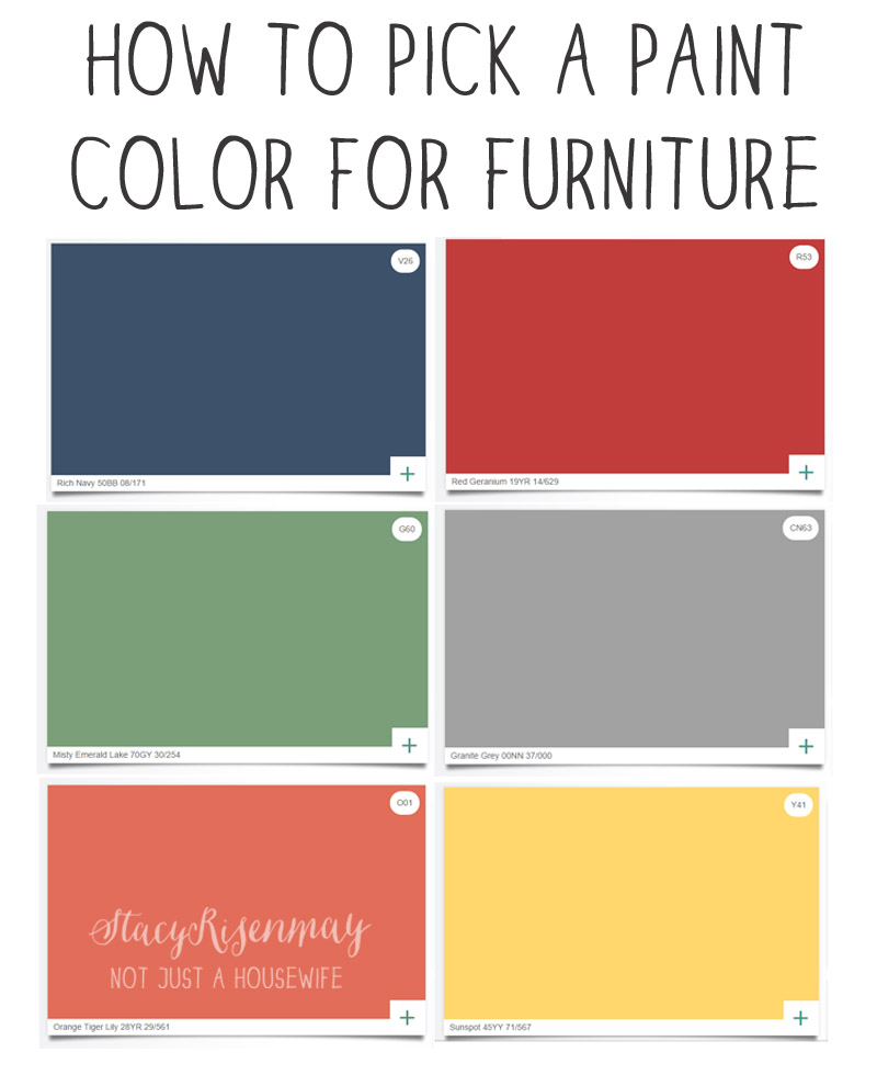 how to pick a paint color for furniture not just a housewife. Black Bedroom Furniture Sets. Home Design Ideas
