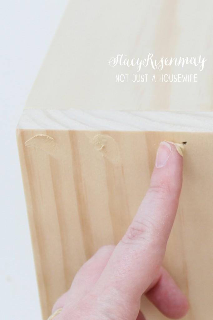 putty nail holes