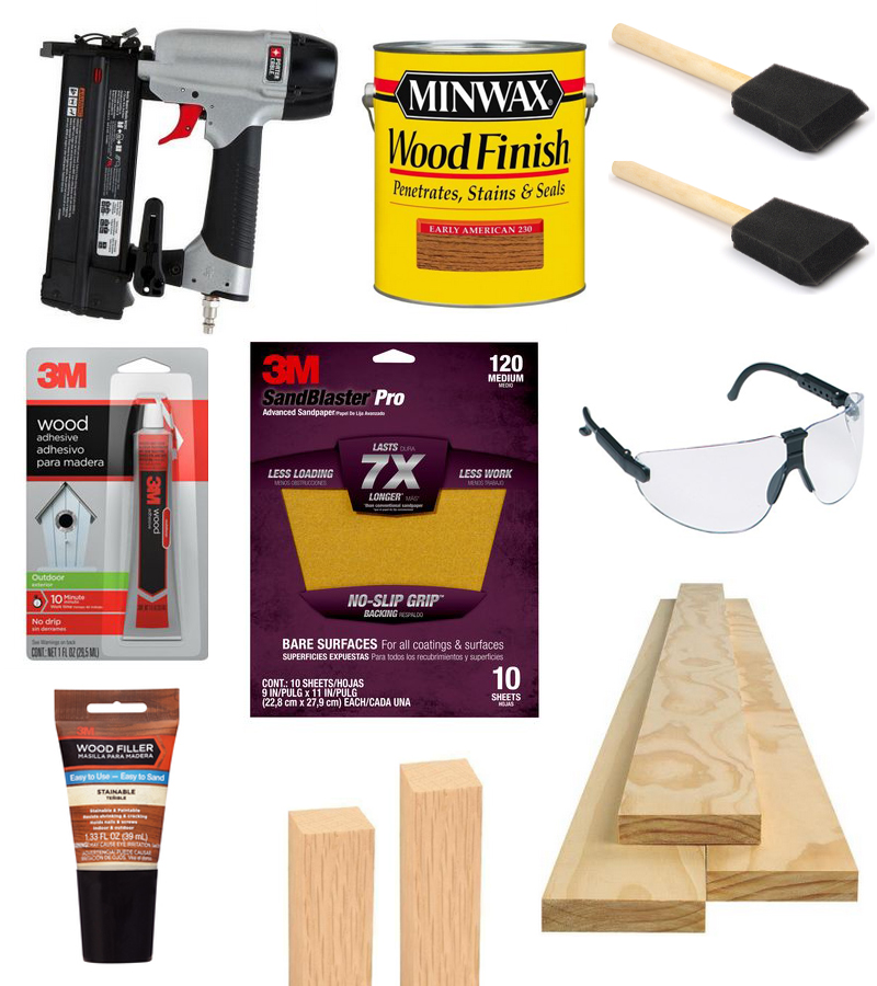supplies to build table