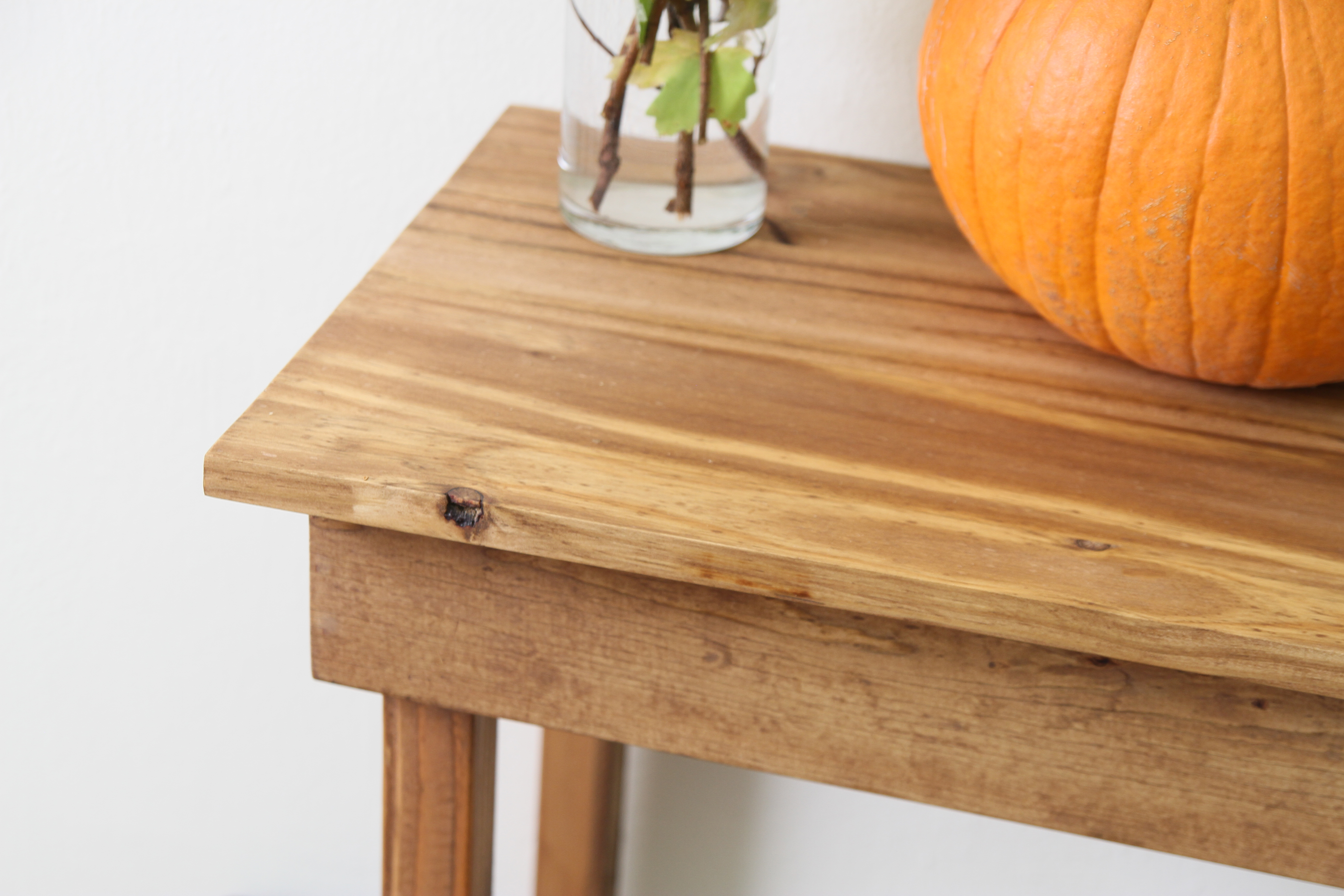How to build a simple entryway table not just housewife