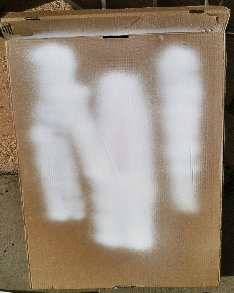test your spray on cardboard before spraying your piece