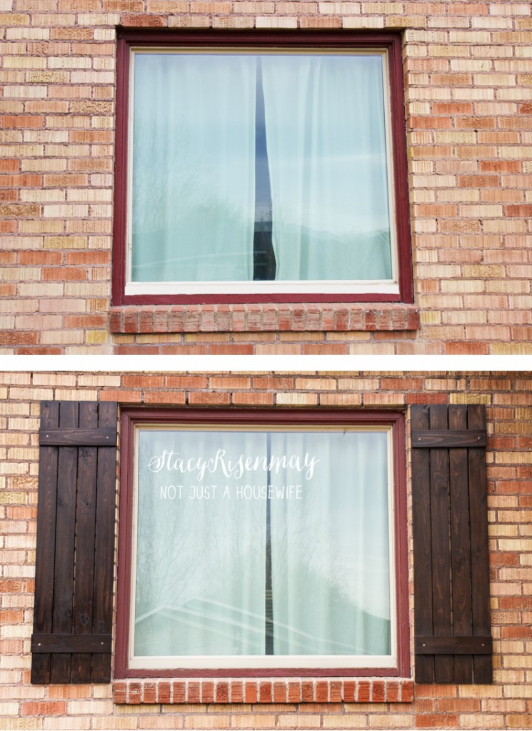 before shutters and after shutters