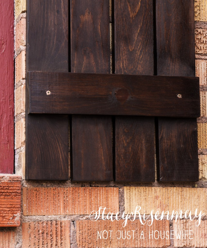 shutter dark walnut stain