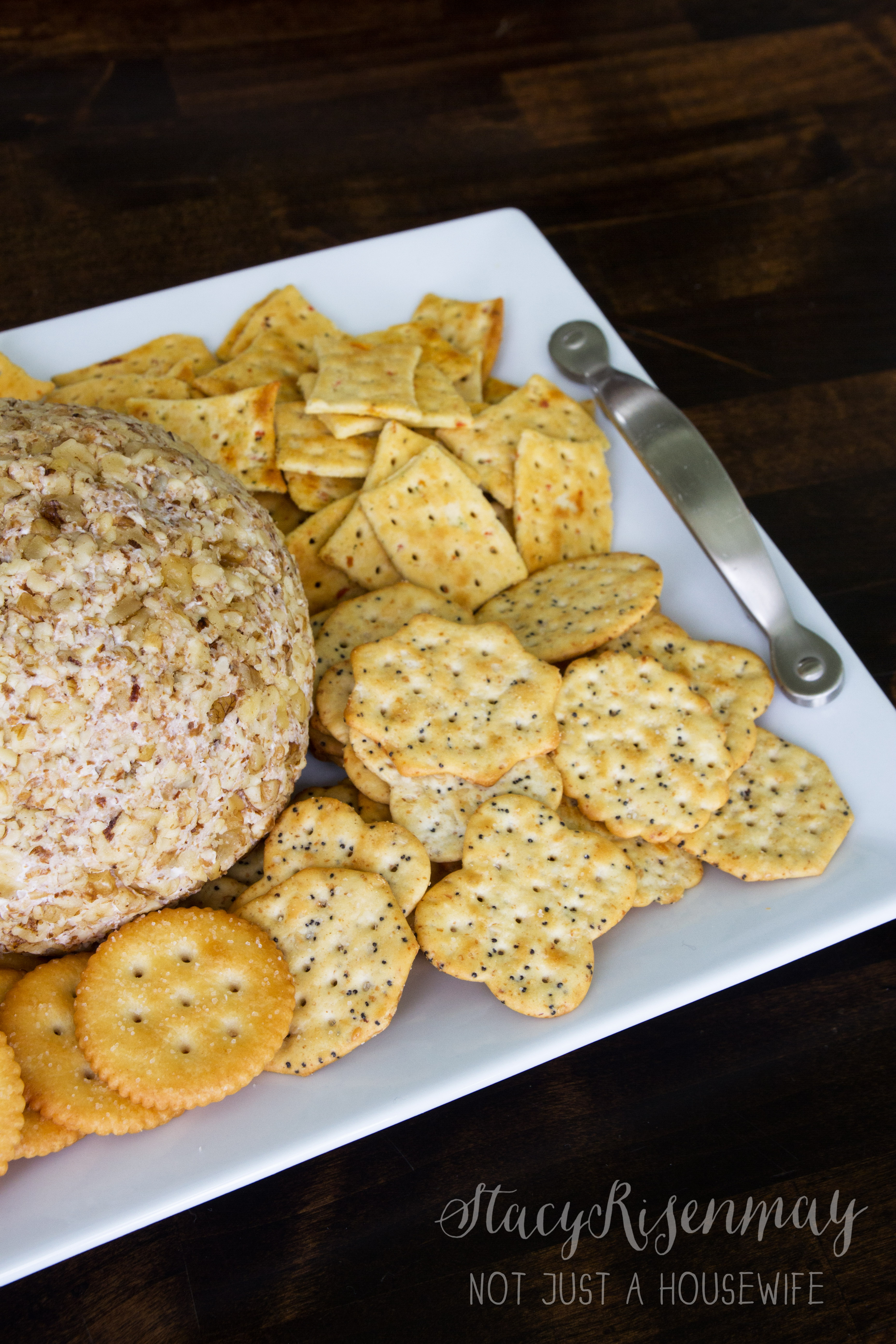 Pineapple Cheese Ball Amp A Simple Diy Serving Tray Stacy