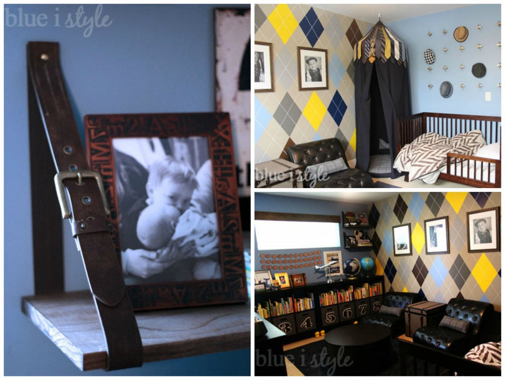 blue i style boy room