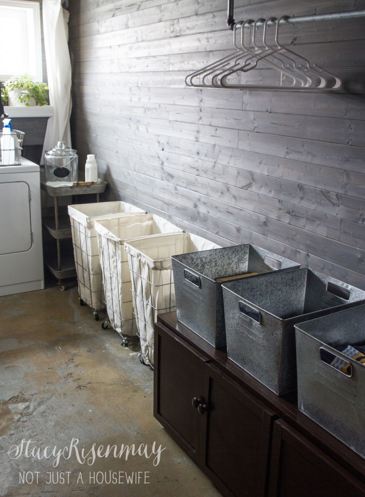 laundry room with BHG laundry carts