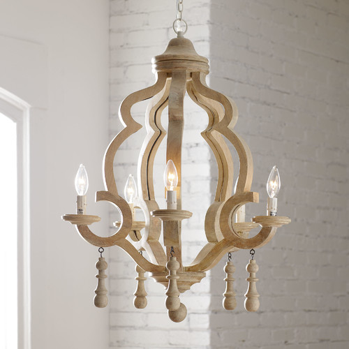 What im crushing on wood chandeliers stacy risenmay birch lane caister chandelier aloadofball