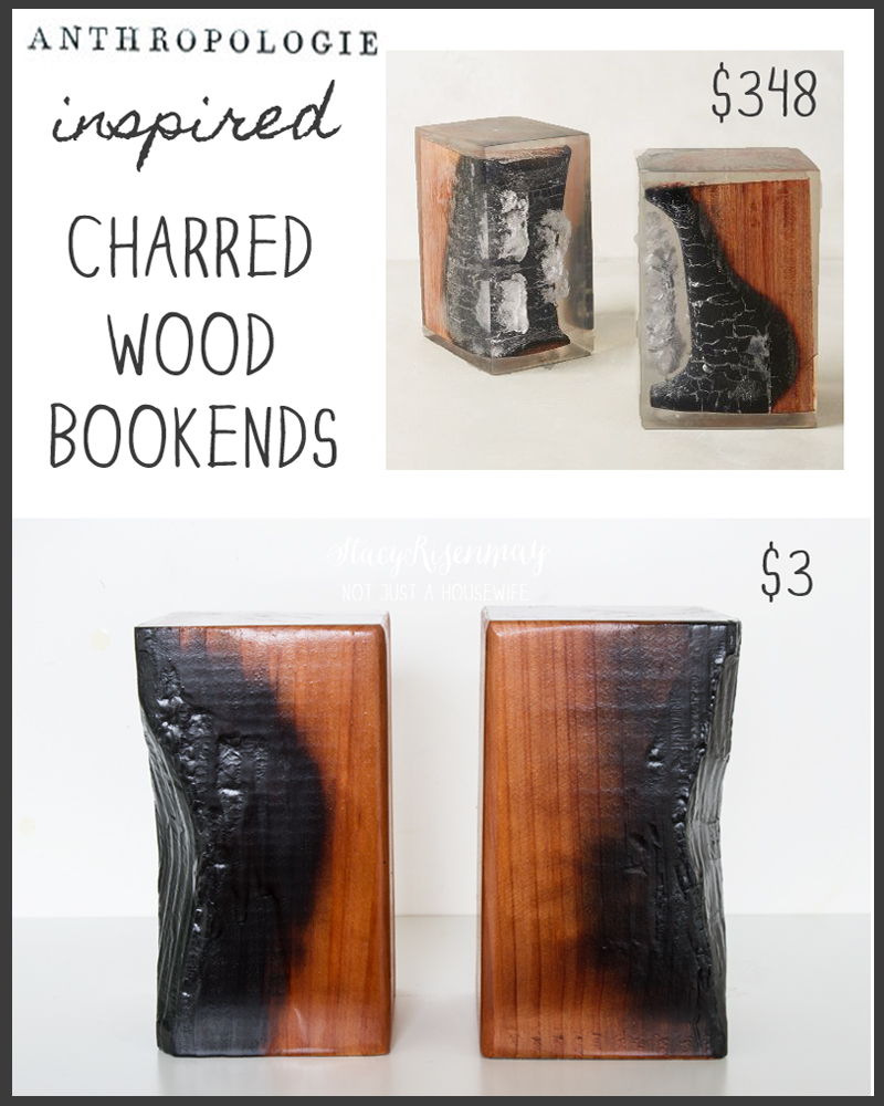 charred wood bookends anthropologie