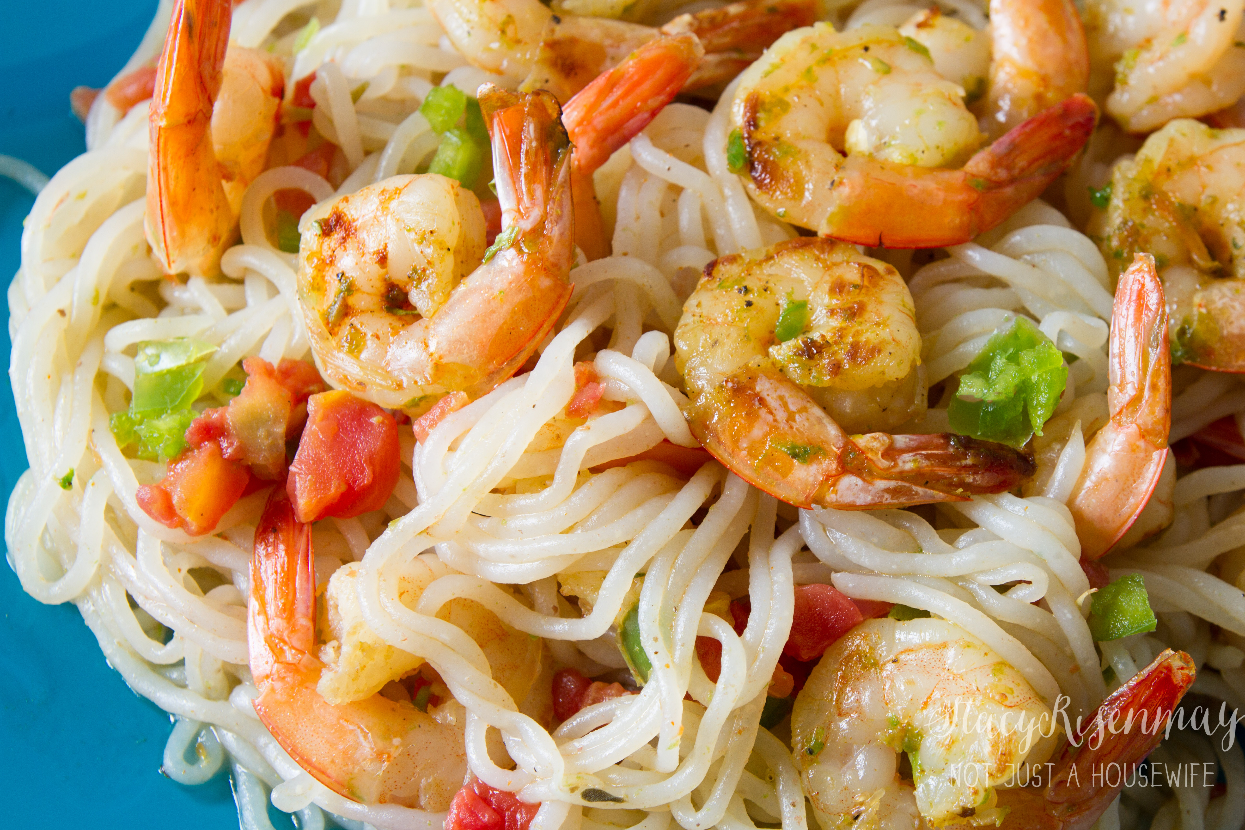 Spicy Garlic Lime Shrimp | Not JUST A Housewife