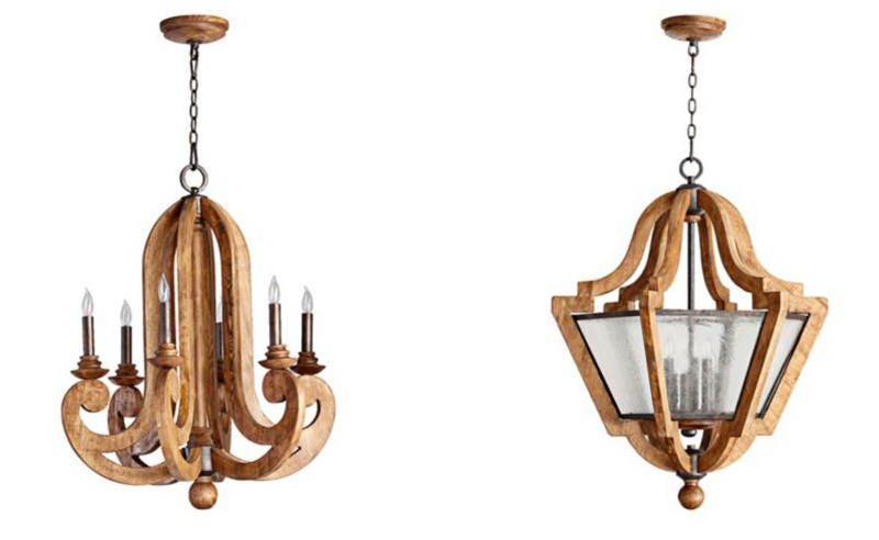 lamps plus wood chandeliers