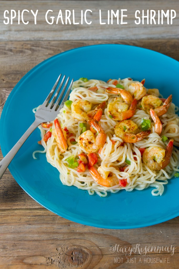 spicy garlic lime shrimp with pasta