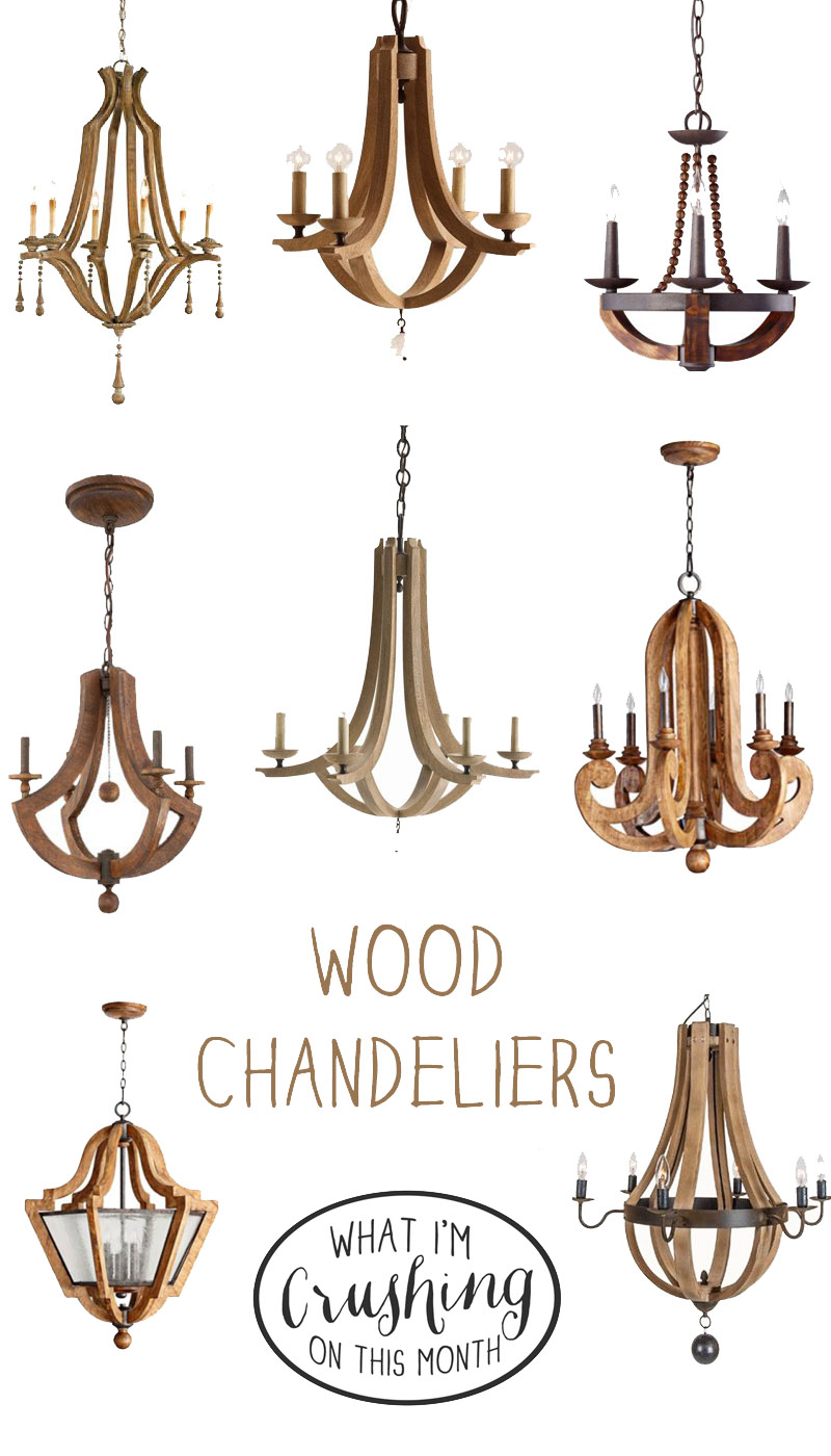Awesome wood chandeliers