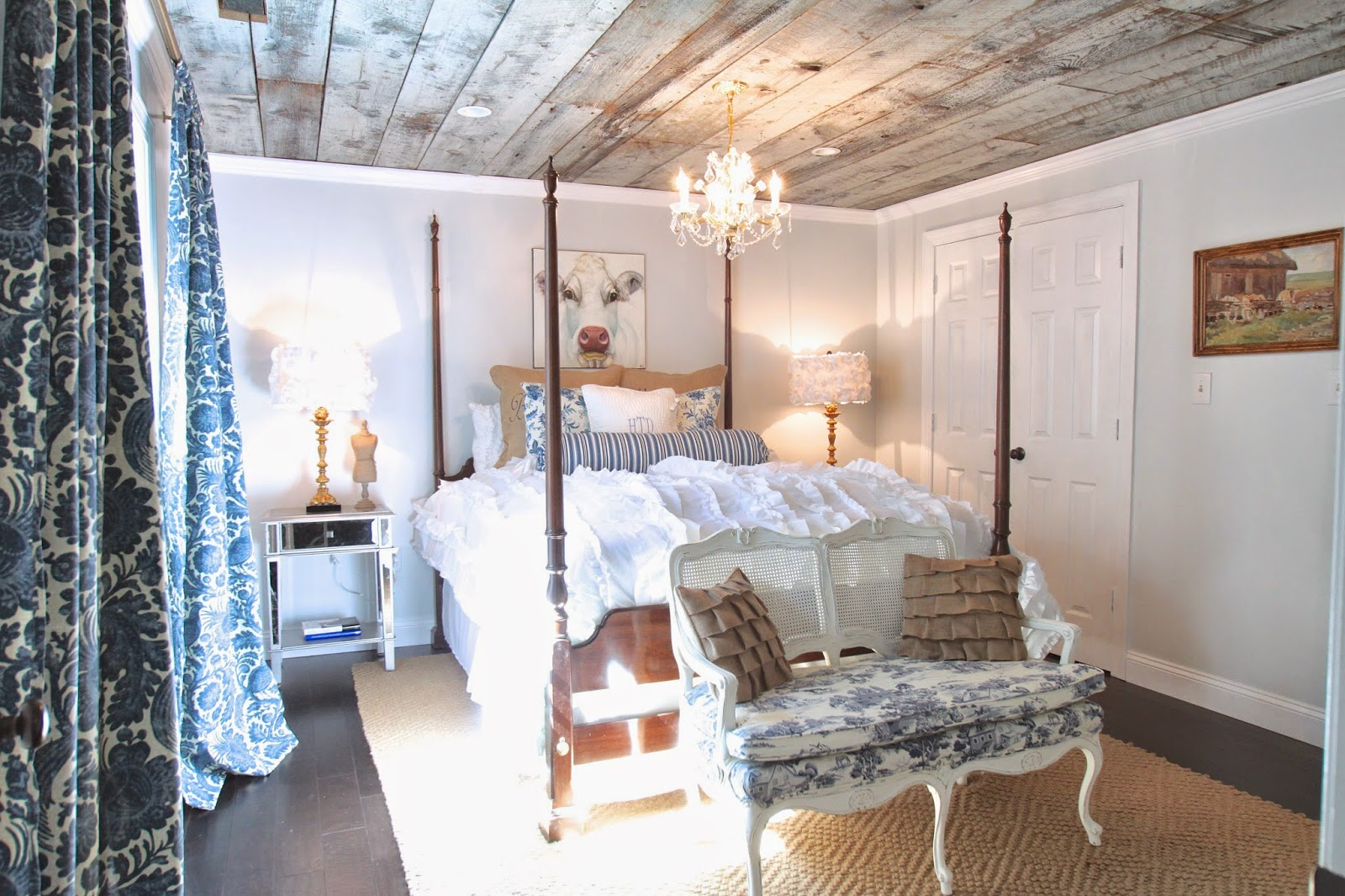 Adding interest to your ceilings stacy risenmay for Adding wood beams to ceiling