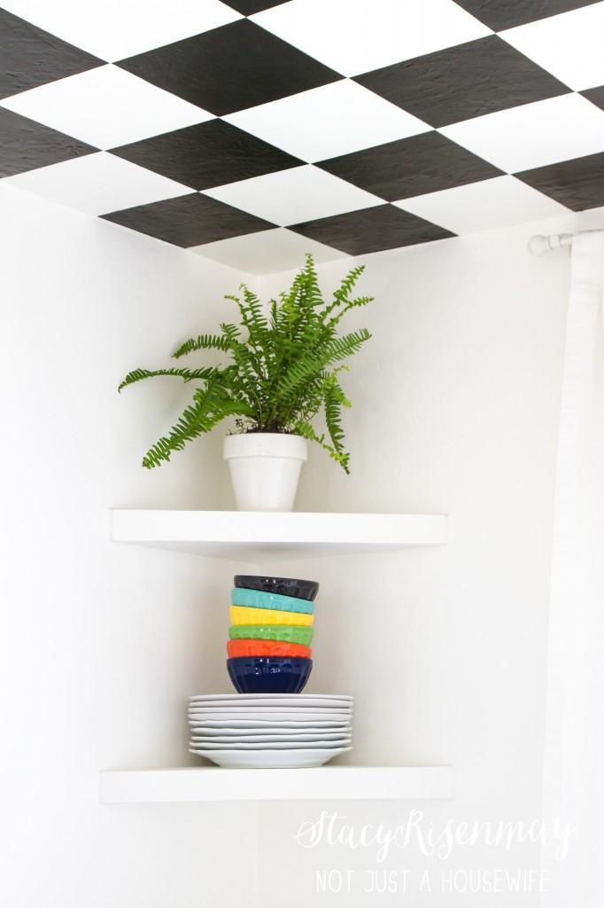 checker board ceiling