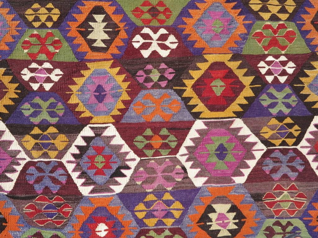 kilim rug close up
