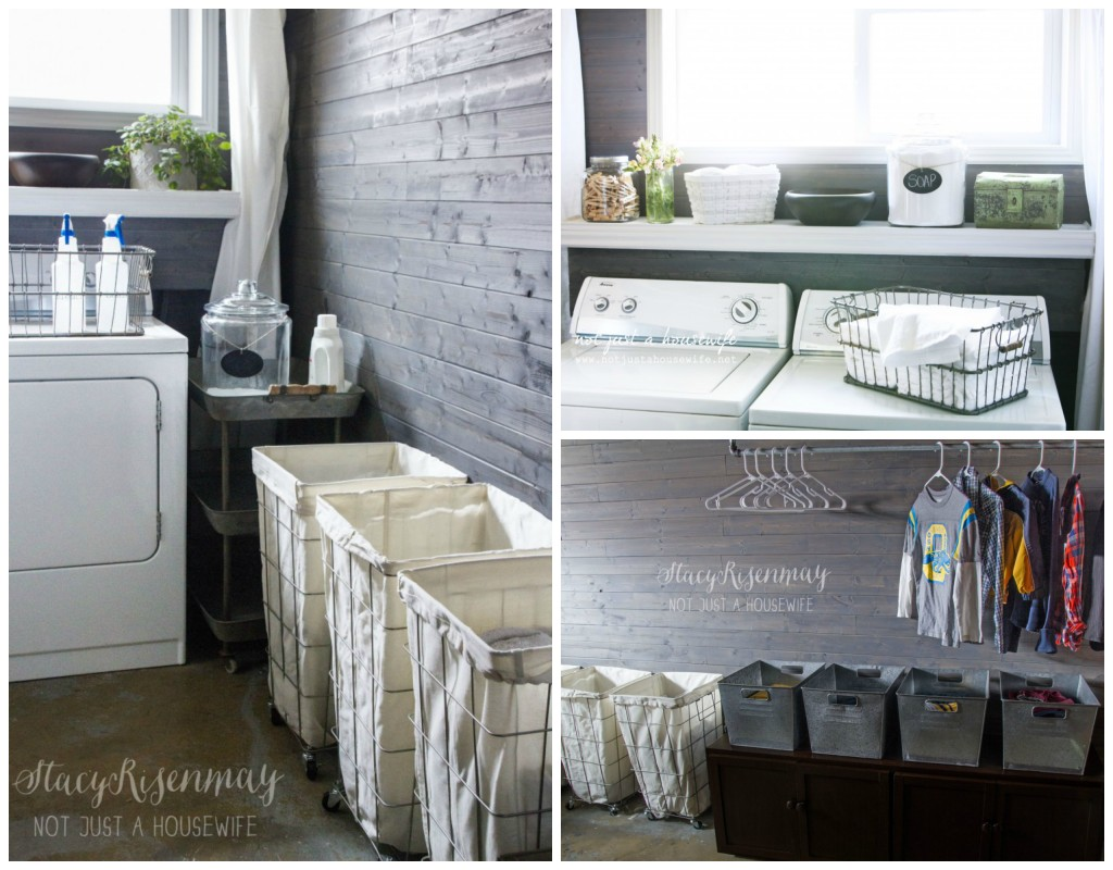 laundry room vintage industrial