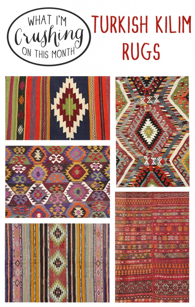 what i'm crushing on - kilim rugs