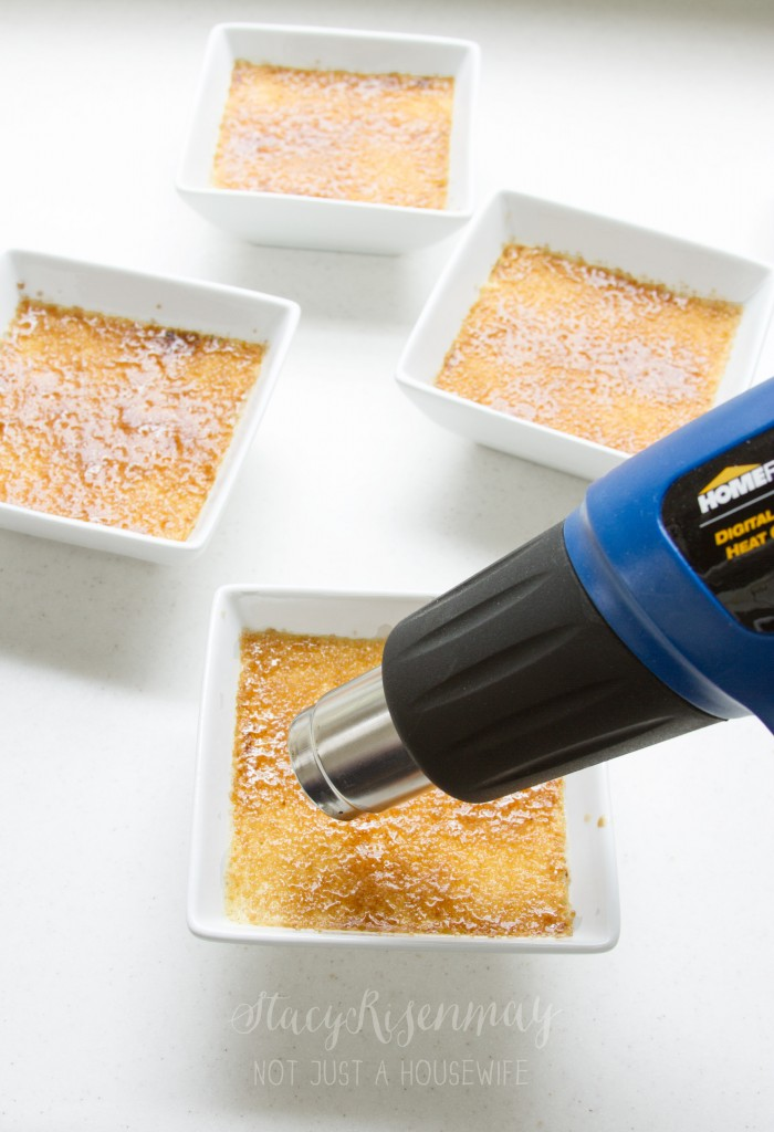 caramelizing the sugar with a heat gun