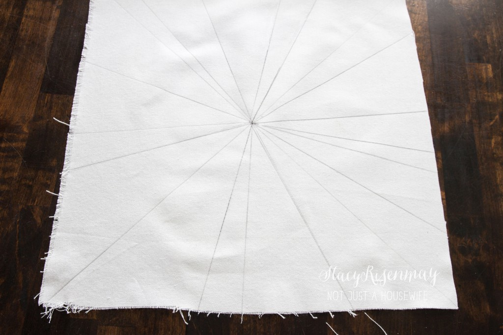 draw lines on fabric