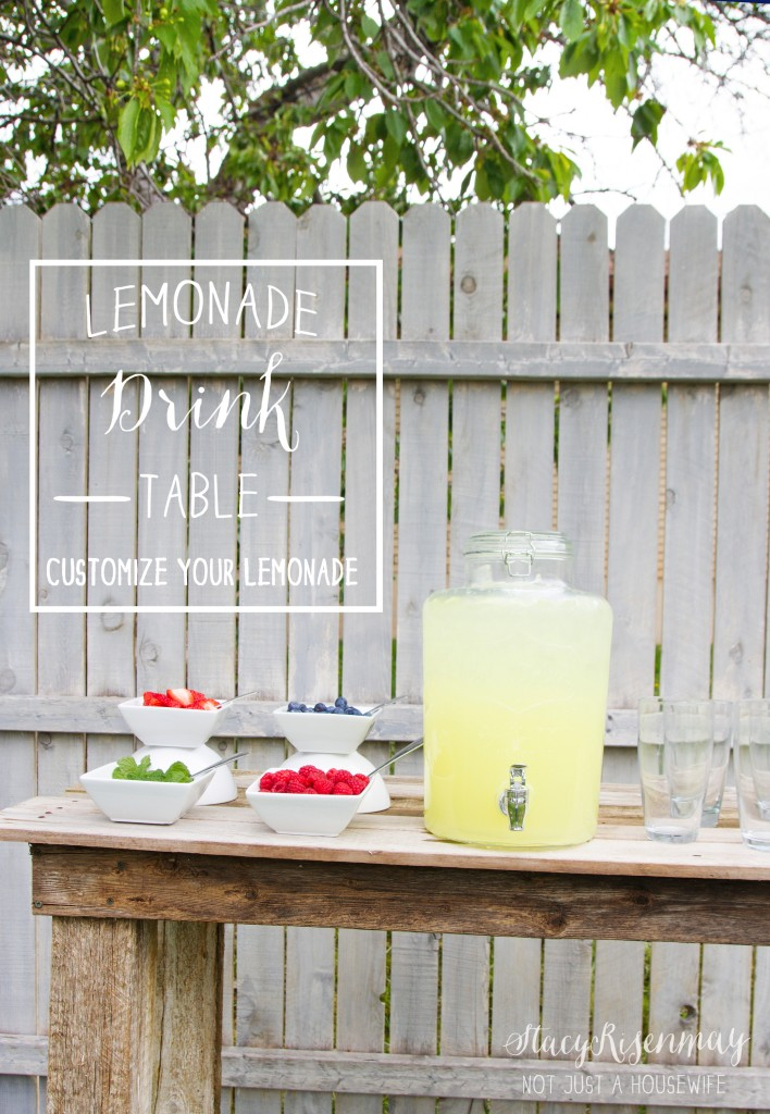 lemonade drink table