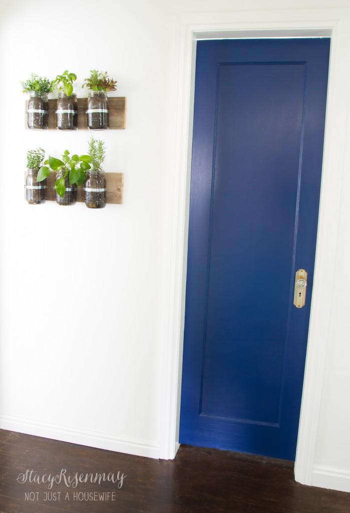 cobolt blue door