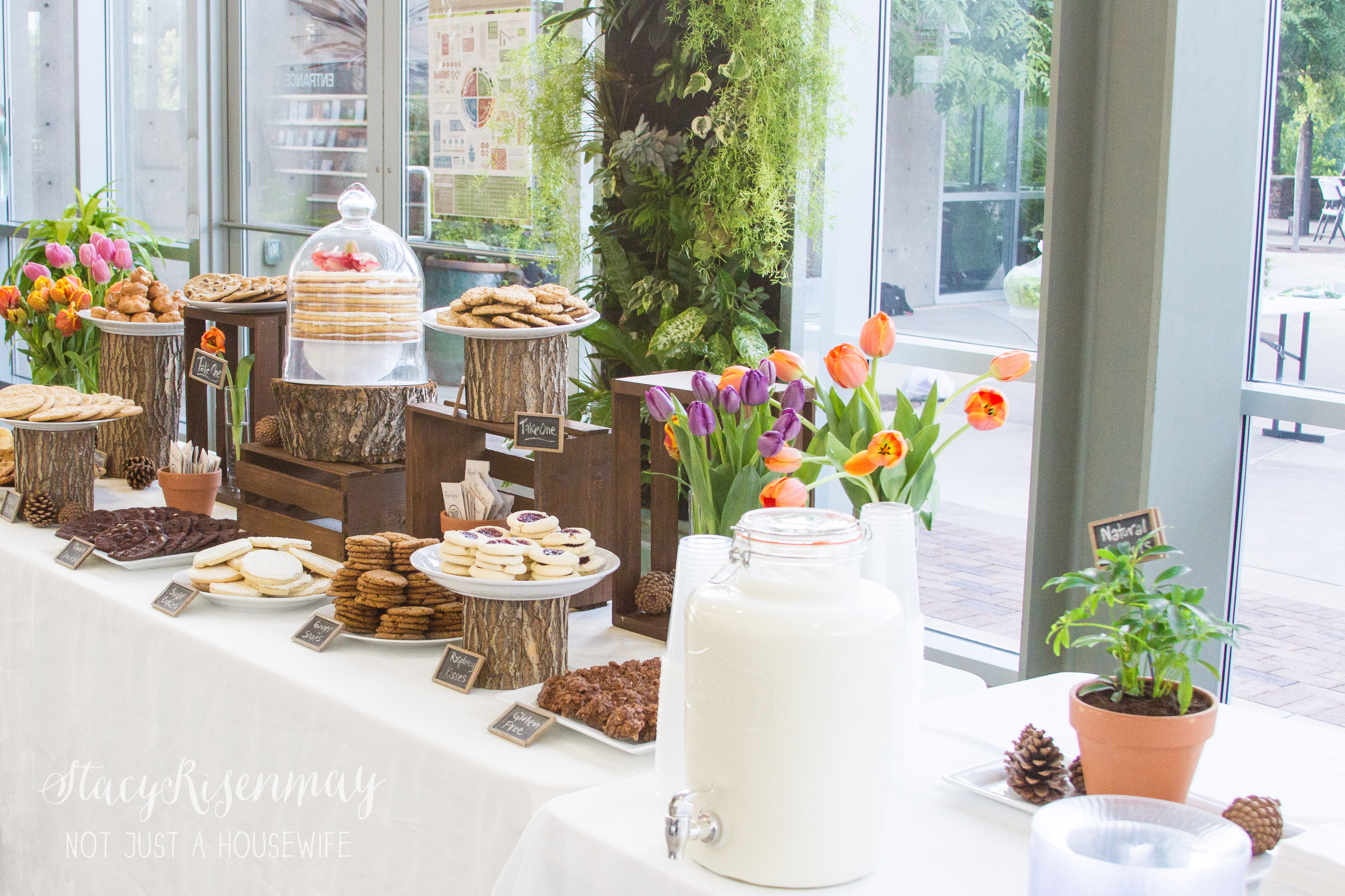 Milk cookie dessert bar not just a housewife for Milk can table ideas