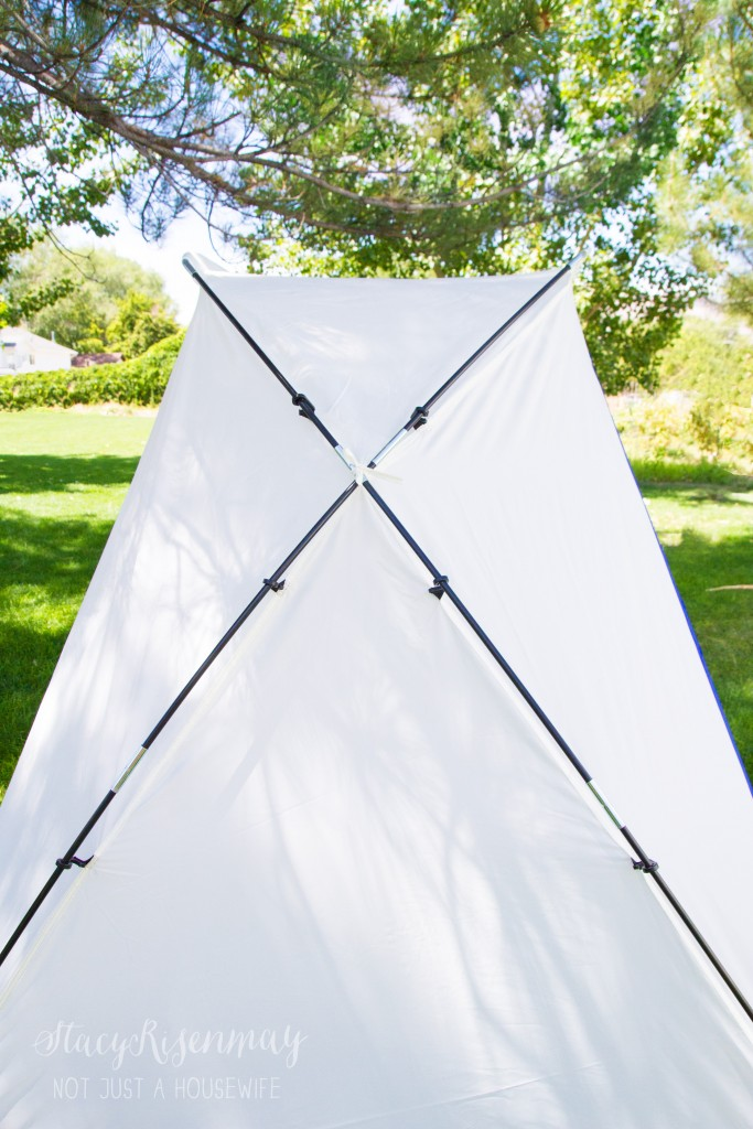 make sure the tent poles cross