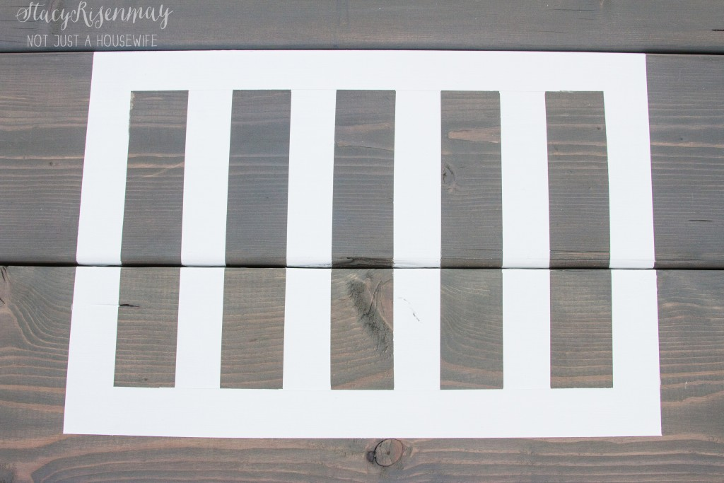 painted placemat on picnic table