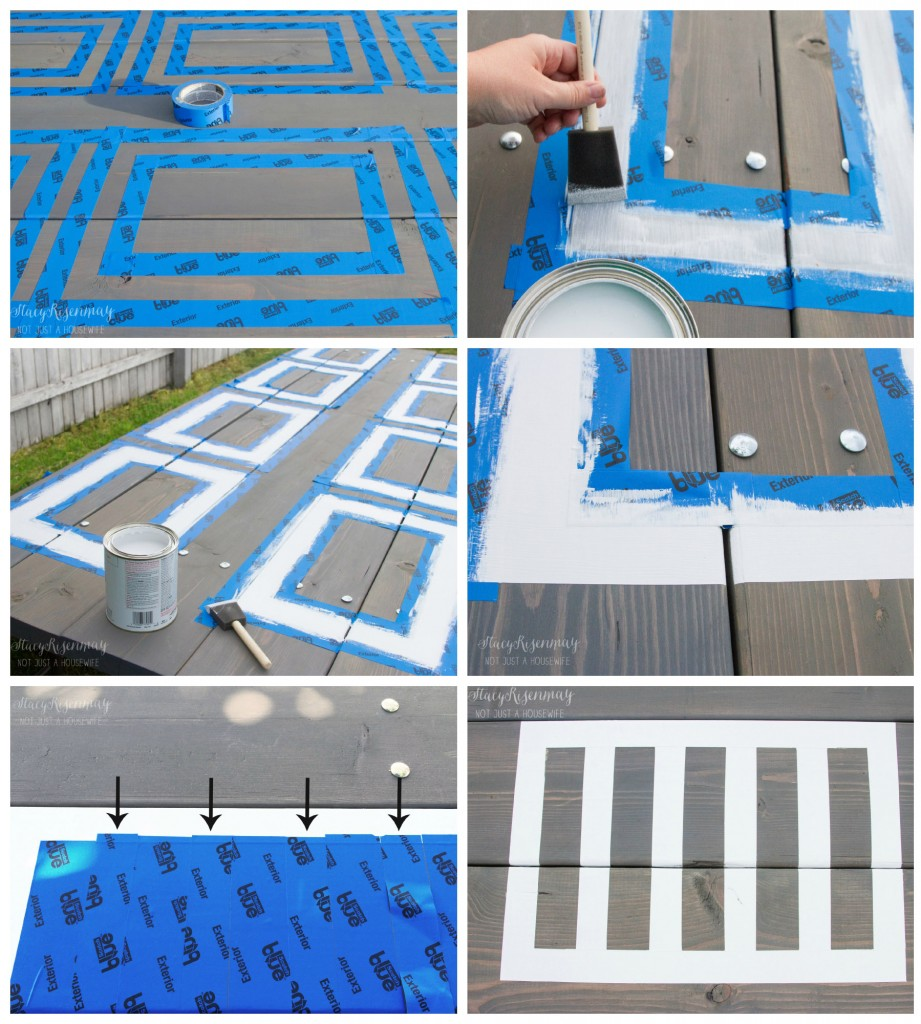 steps for painting placemat
