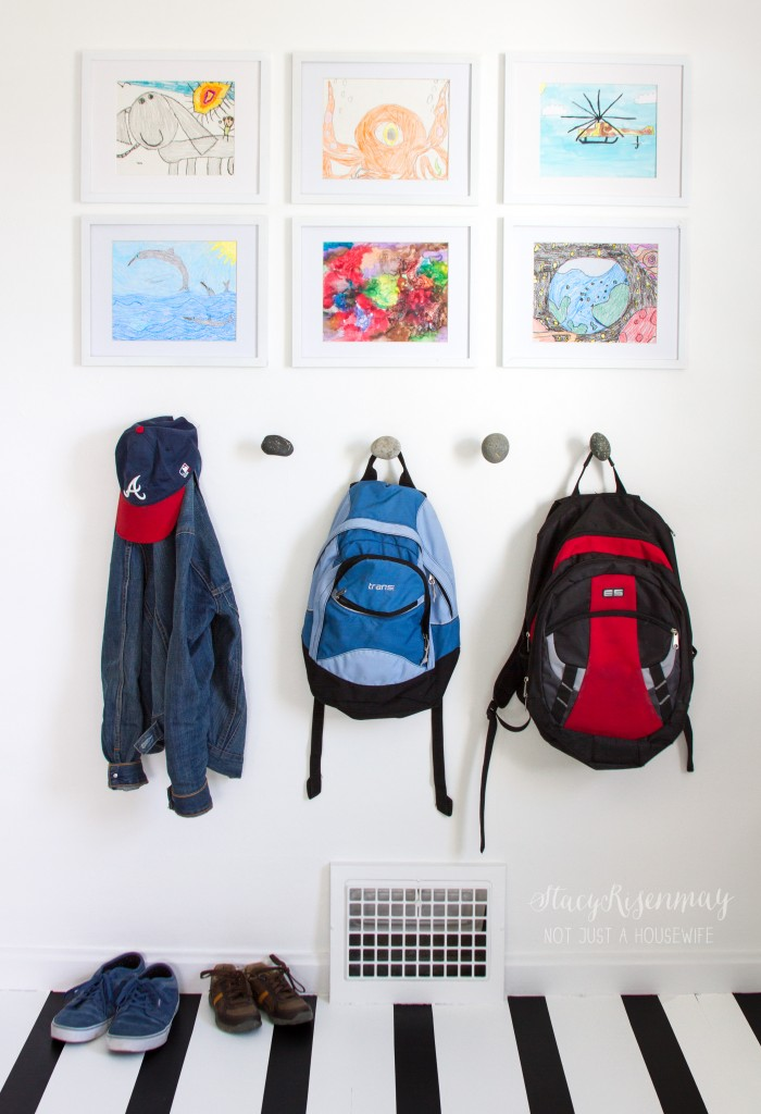 children's artwork as a way to personalize your space