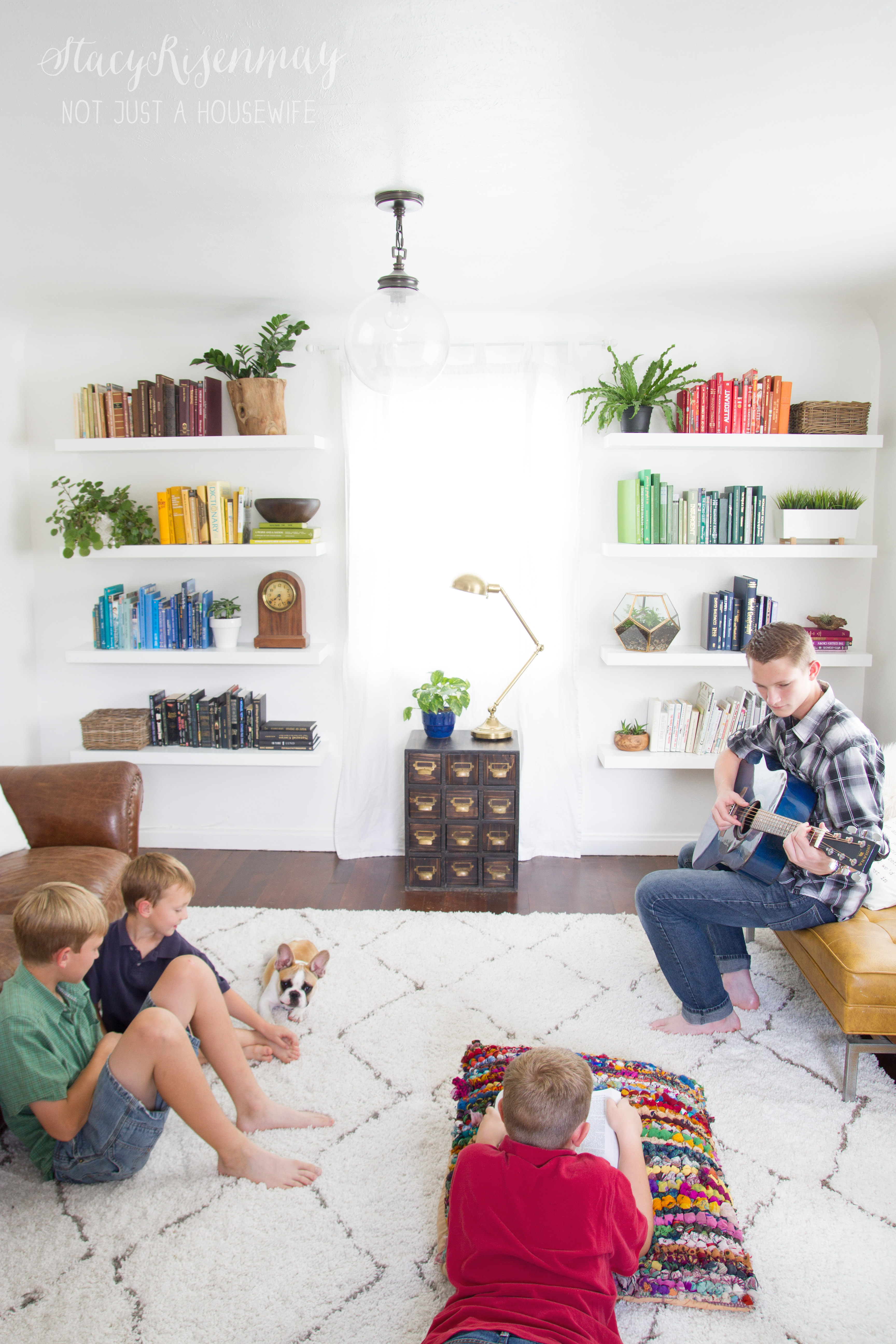 Living Room Ideas For Family Bonding: Steaming Curtains And Rugs By Not Just A Housewife