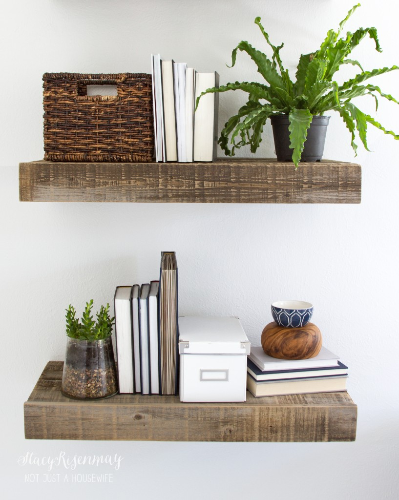 office shelves styled