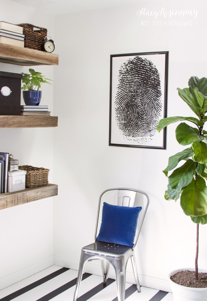 office sneak peek and a sweet story about this fingerprint art