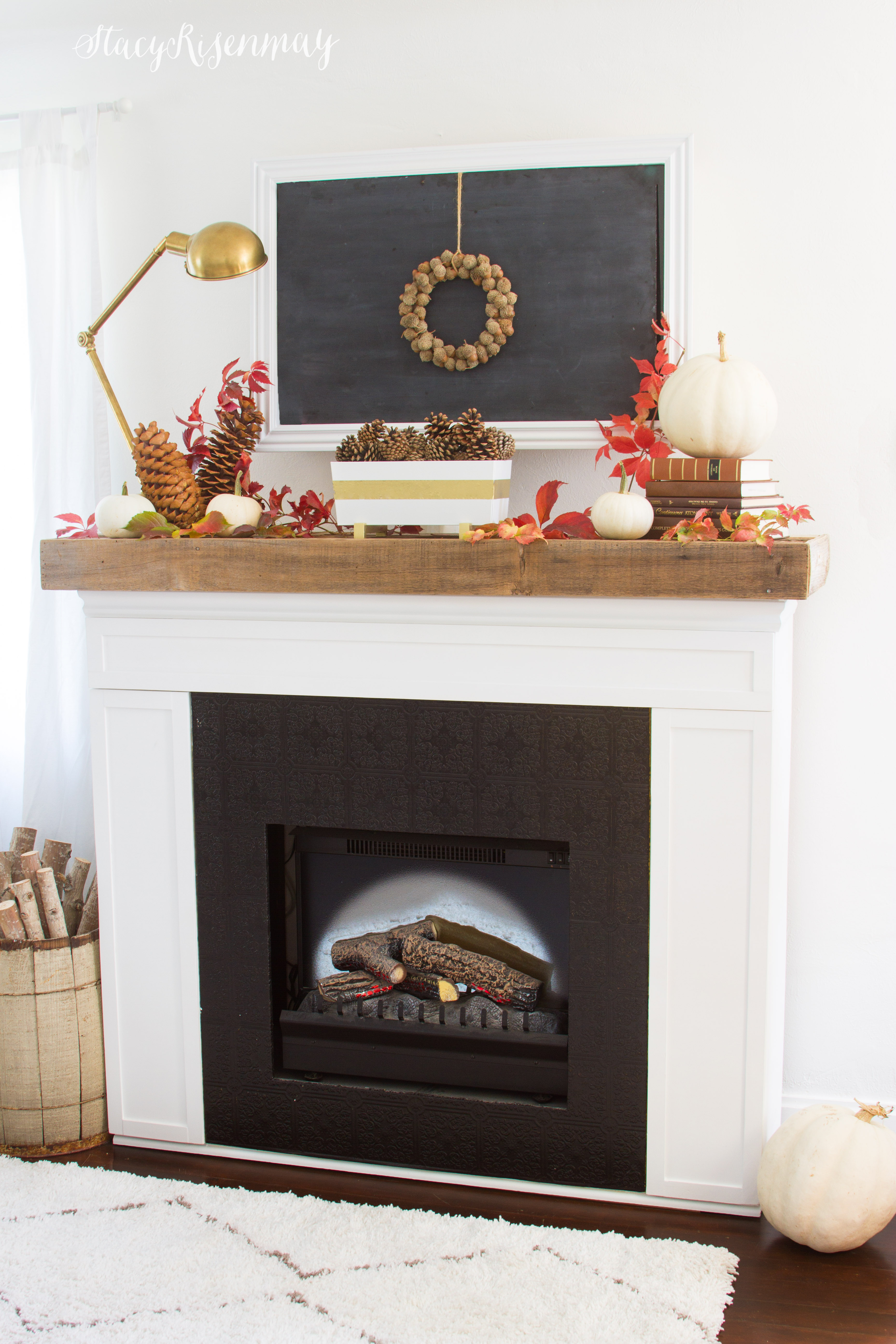 Fall Mantel Styled X3 Stacy Risenmay