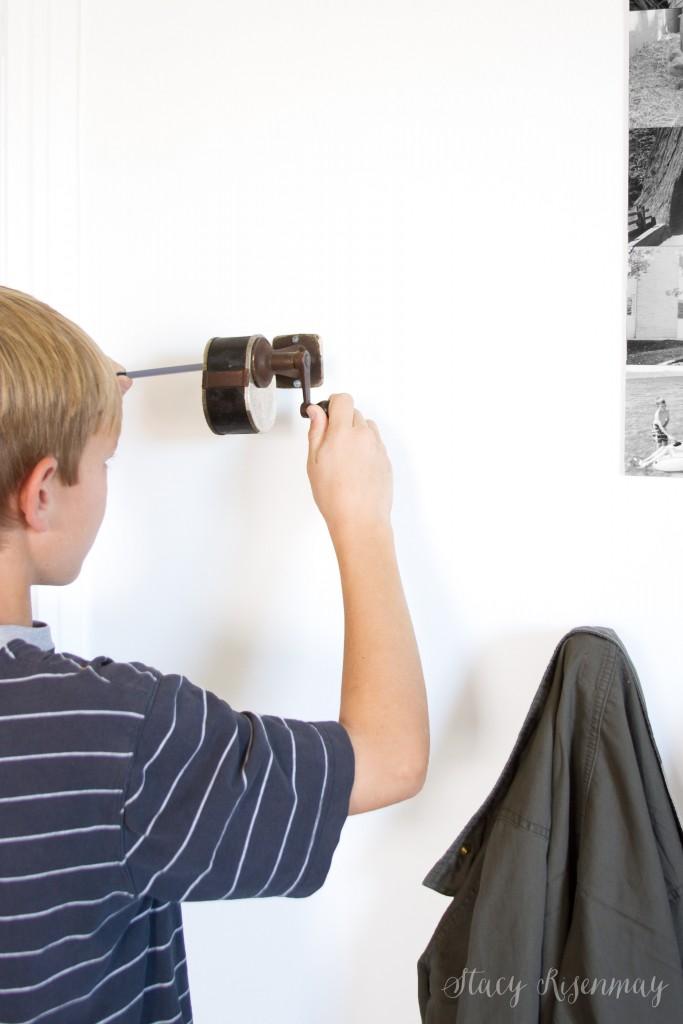 pencil sharpener - wall mounted