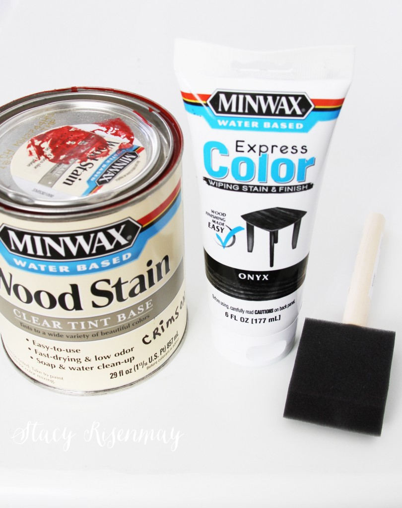 color stain I used for stenciling